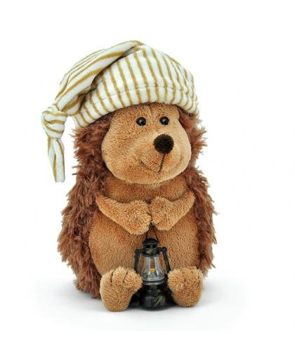 Ёжик  Колюнчик в колпачке с фонариком в подарочной коробке  30см