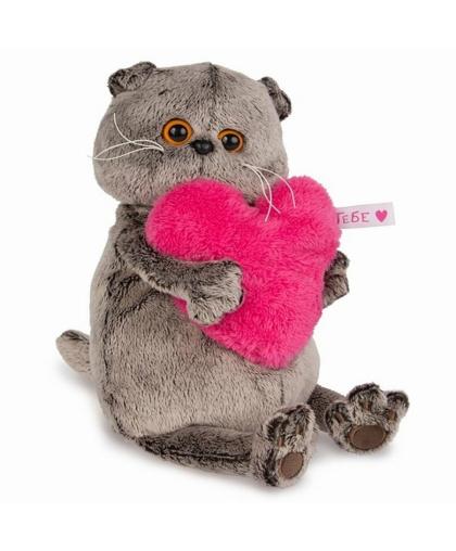 Кот Басик с сердцем 30см