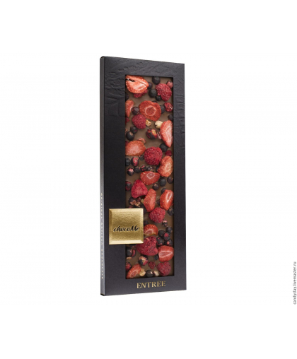 """Элитный горький шоколад """"Венгрия с лиофилизированными ягодами"""" 110г."""