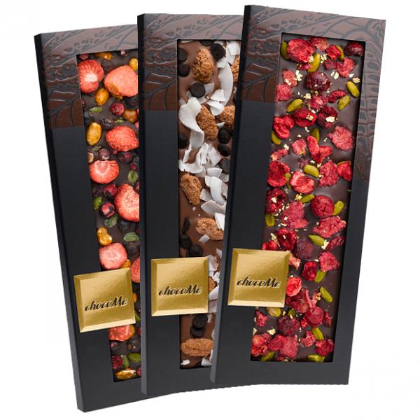 """Элитный шоколад """"Венгрия со съедобным золотом и серебром"""" 110г."""